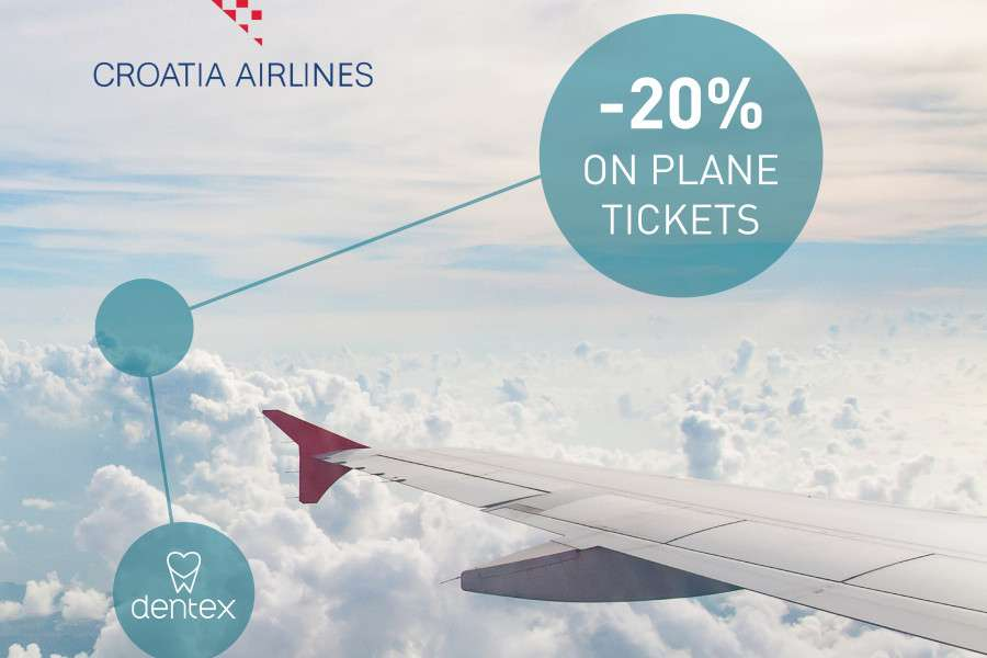 Cooperation with Croatia Airlines and special benefits for guests of the Dentex dental clinic